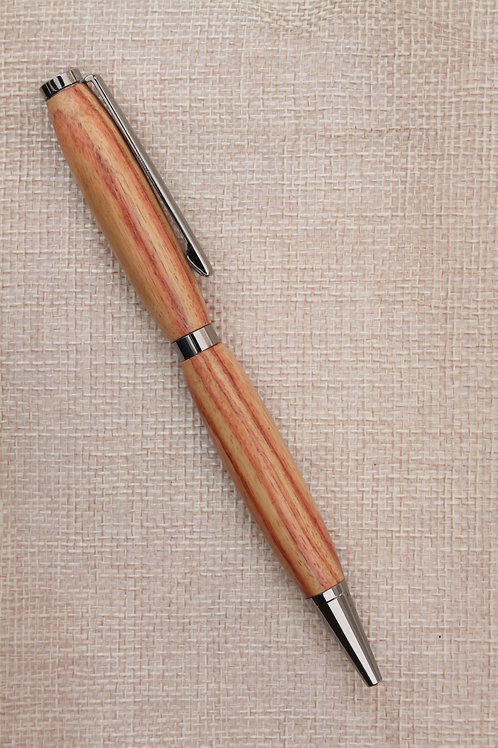 Penna modello Fancy con legno zebrano