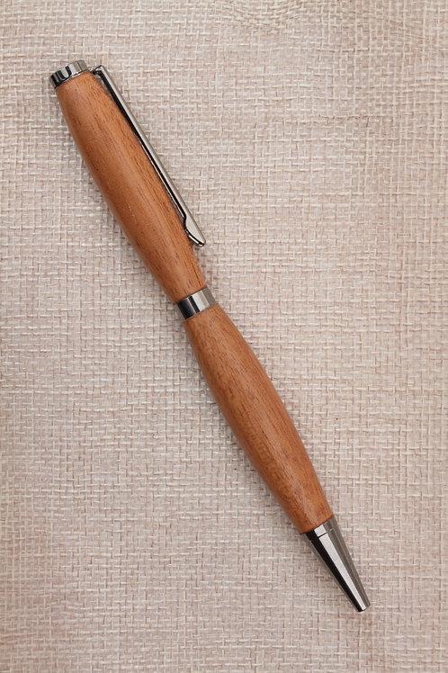 Penna modello slimline con legno di ciliegio