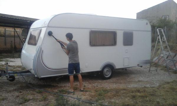 lavado caravanas