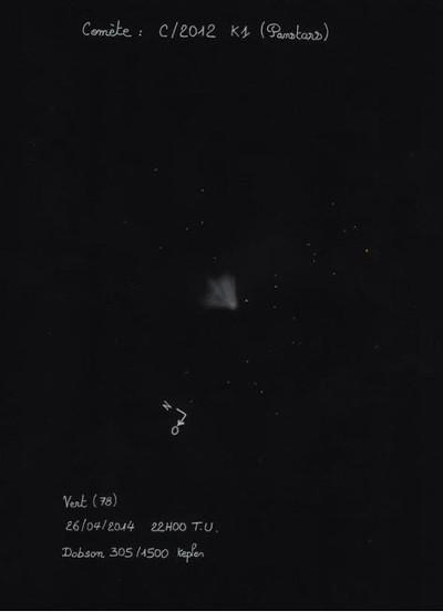 La comète Panstarrs