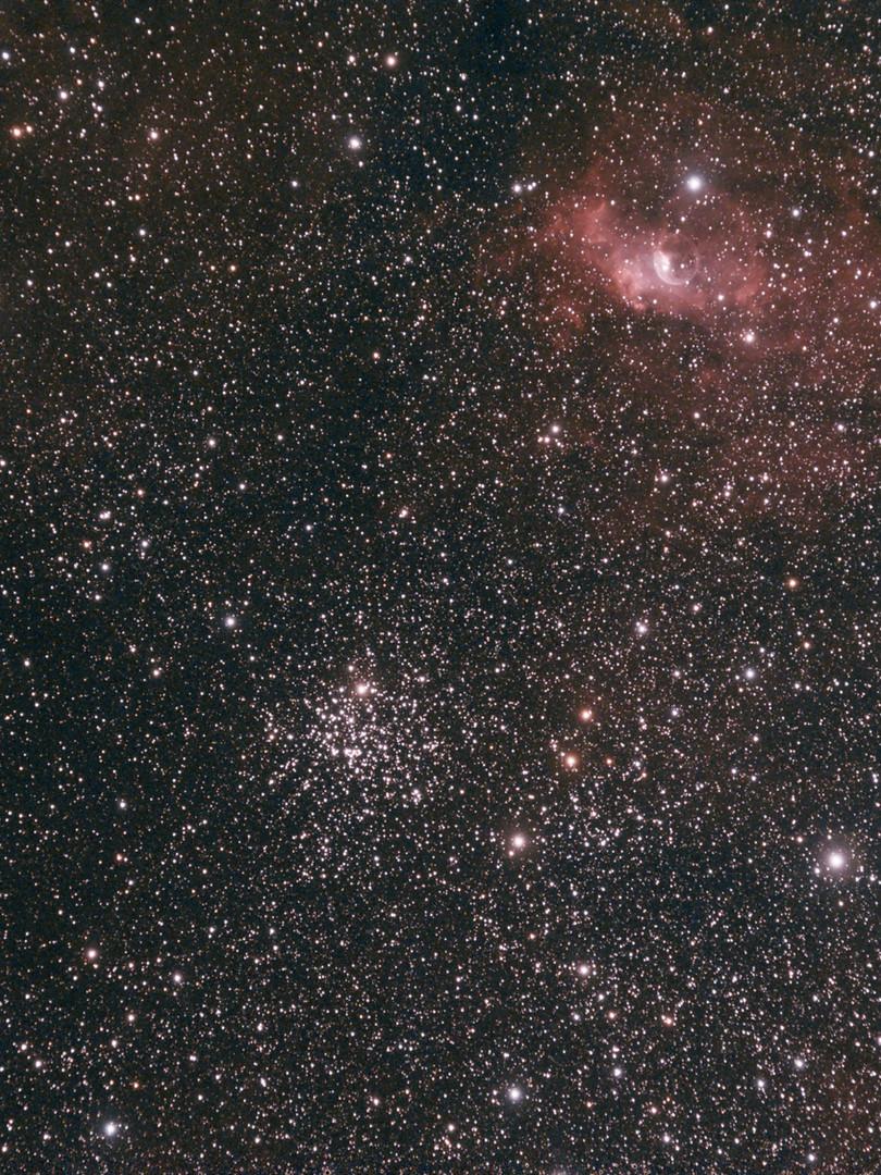 Nébuleuse de la Bulle de Savon + M52