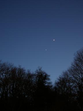 Conjonction Vénus et Jupiter