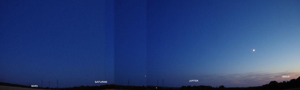 Planètes Mars-Saturne-Jupiter-Lune-Vénus