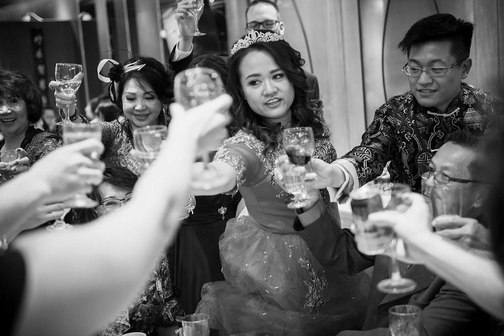 Toasting the Bride and Groom Forbidden City Calgary