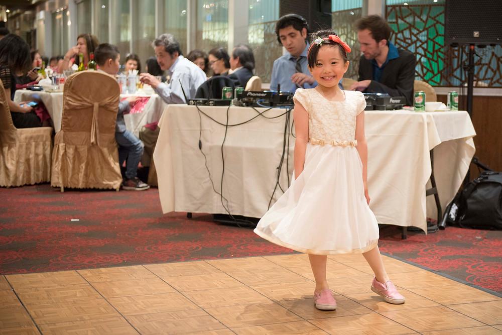 Little Girl Dancing on the Dance Floor