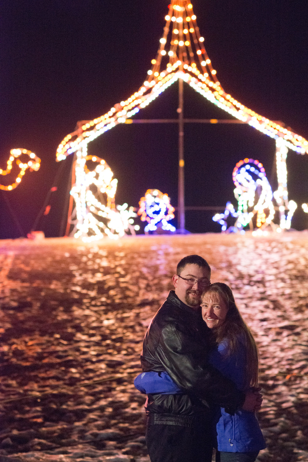 Airdrie Christmas Lights Proposal - Airdrie, AB - Proposal Photographer