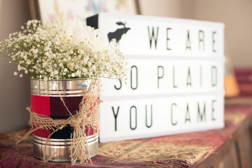 We Are So Plaid You Came - Plaid Bridal Shower - Calgary, AB