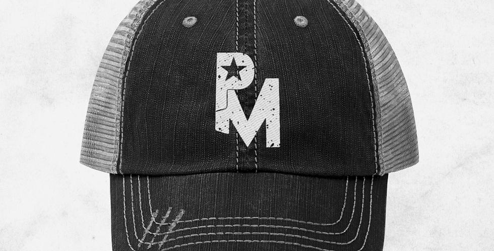 Unisex Navy Vintage Trucker Hat