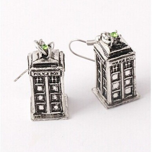 3D Style Tardis Earrings