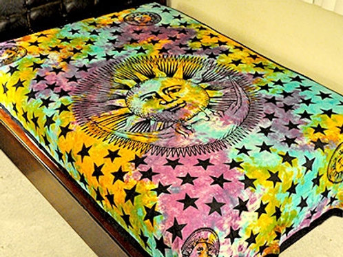"""Tie Die Celestial Tapestry - 72"""" x 108"""""""