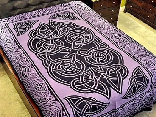 "Celtic Design Tapestry in Purple - 72"" x 108"""