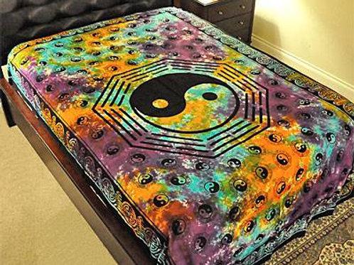 """Ying Yang Tapestry in Tie Tye - 72"""" x 108"""""""