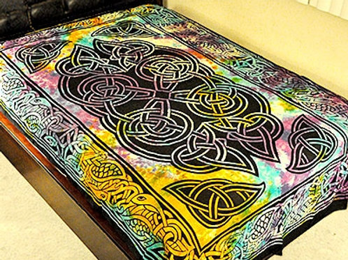 "Celtic Design Tapestry in Tie Dye - 72"" x 108"""