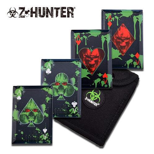 Z-Hunter Dragon Slayer Throwing Card Set with Sheath