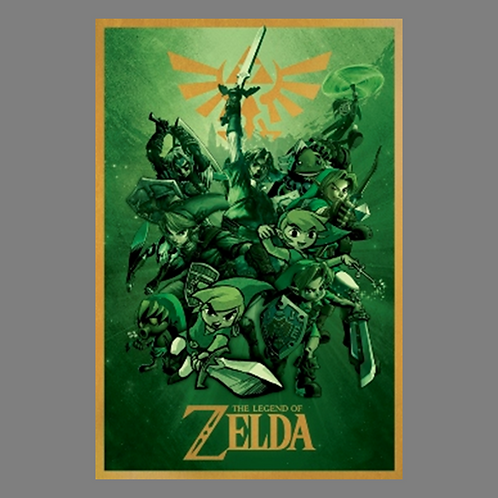 """The Legend of Zelda """"Link Through the Ages"""" Poster"""