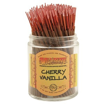 "Cherry Vanilla ""Shorties"" Wildberry 4"" Stick Incense"