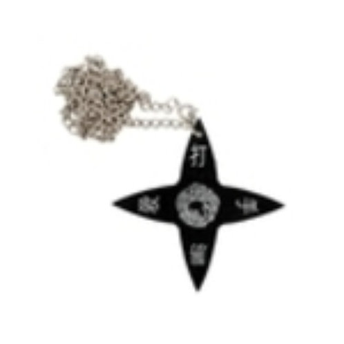 Black Throwing Star Necklace.