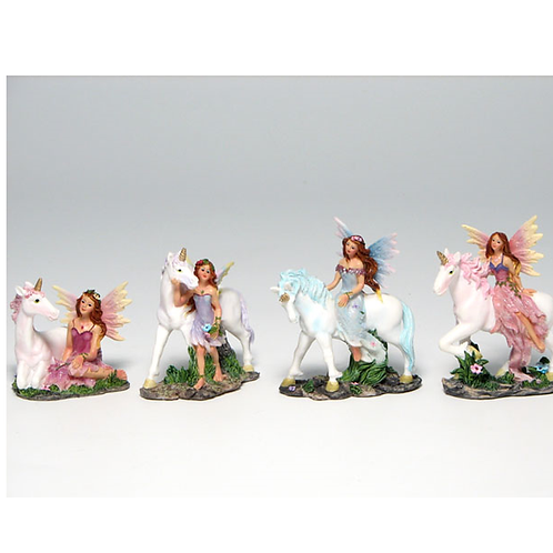 Mystic Unicorn -- Fairy with Unicorn Figurine