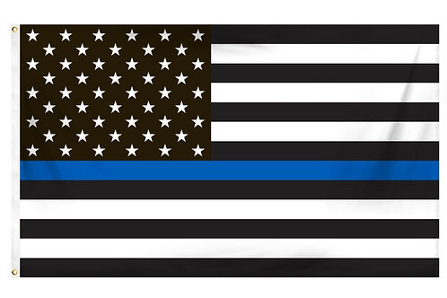 Thin Blue Line Flag 3' x 5'