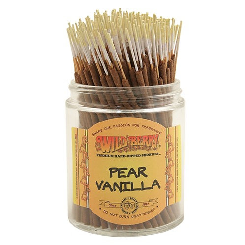 "Pear Vanilla Wildberry 4"" Stick Incense"
