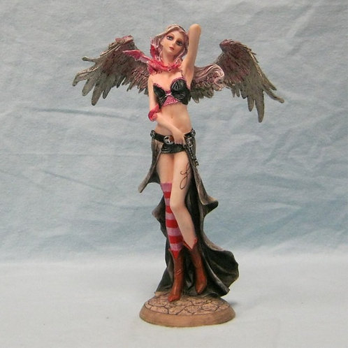 Pink Angel Warrior w/ Dragon & Pistol Figurine