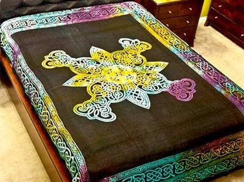 """Celtic Design Tapestry (Tie Dye) - 72""""X108"""""""