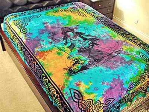 "Goddess Kali Tapestry (Tie dye) - 72""X108"""