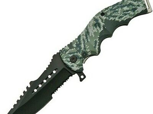 "8.5"" Combat Tactical Spring Assisted Opening Liner Lock Folding Knife"