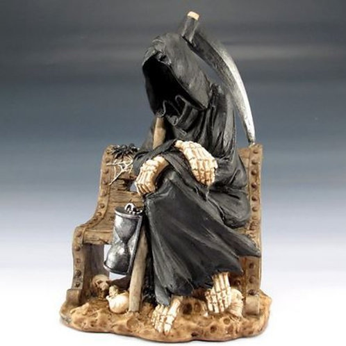 Grim Reaper on a Bench Figurine