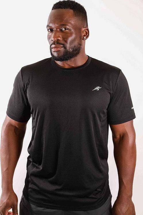 Burk Short Sleeve Shirt - Black With White Logo