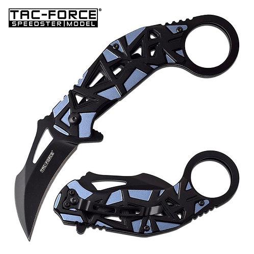 Tac Force Karambit Spring Assisted Folding Pocket Knife Blue