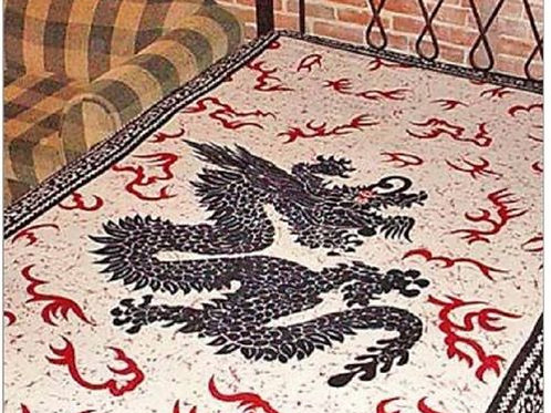 "DRAGON TAPESTRY (RED/BLACK/WHITE) - 72""X108"""