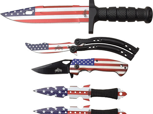 Flag Combo Knife Set