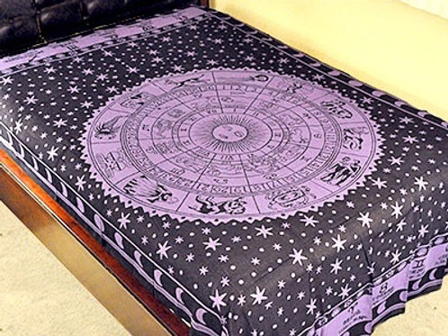 "ZODIAC TAPESTRY (Purple) - 72""X108"""