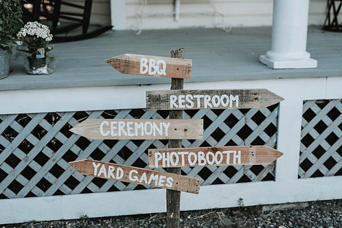 Rustic Directional Sign