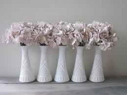 White milk glass bud vase - Medium