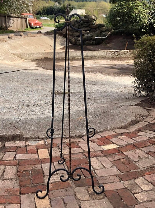 Large scroll iron easel