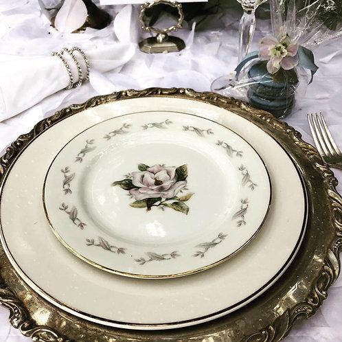 Gold Rimmed Vintage Dinner plate