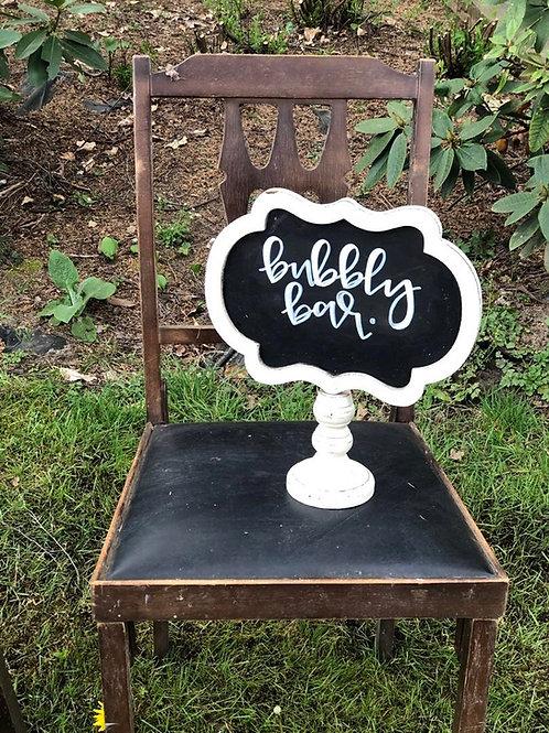 Small pedestal chalkboard
