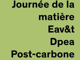 """"""" Le chanvre: de la plante à l'architecture """" Dpea Post carbone Eav&t Paris-Est - 01.12.20"""
