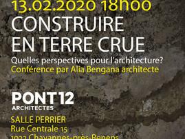 """""""Construire en terre crue"""" - Conférence, Agence PONT 12, Lausanne, Suisse"""