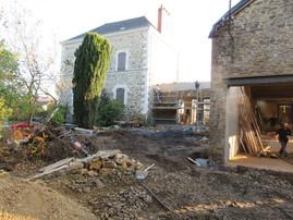 Chantier en cours : Extension Rénovation d'un ancienne écurie en Bretagne
