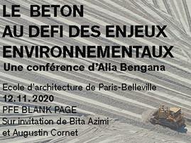 """""""Le béton au défi des enjeux environnementaux"""" - Conférence - ENSAPB Paris - 12.11.2020"""