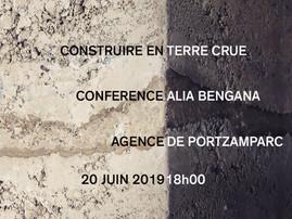 """Conférence """"construire en terre crue"""" Agence Christian de Portzamparc, Paris - 20 juin à 18h"""