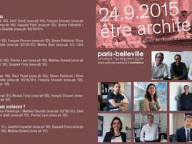 """Mise en ligne du documentaire """"Être architectes"""" réalisé pour la Biennale de l'ENSAPB le 2"""