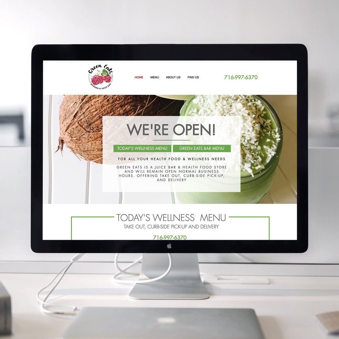 Green Eats Website Displayed INSTAGRAM.j