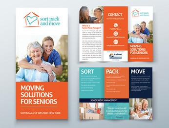 Sort, Pack, & Move- Graphic Design Tri-fold