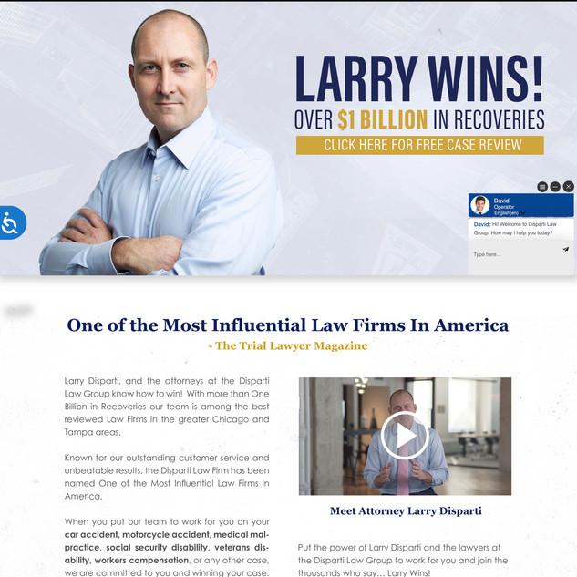 Disparti Website Build