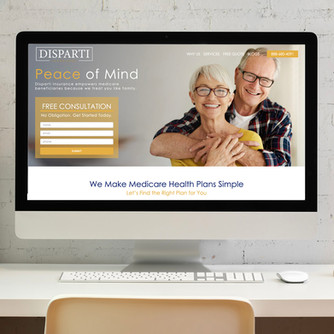 Disparti Insurance- Web Design