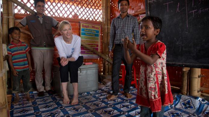 L'attrice Cate Blanchett Interviene sul dramma dei rifugiati del Bangladesh